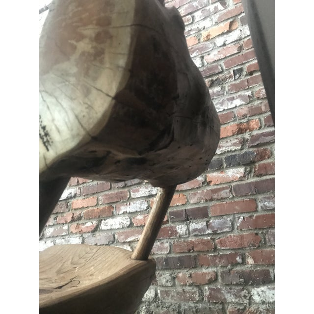 Tan 1800's Vintage Rustic Handmade Log Chair For Sale - Image 8 of 10