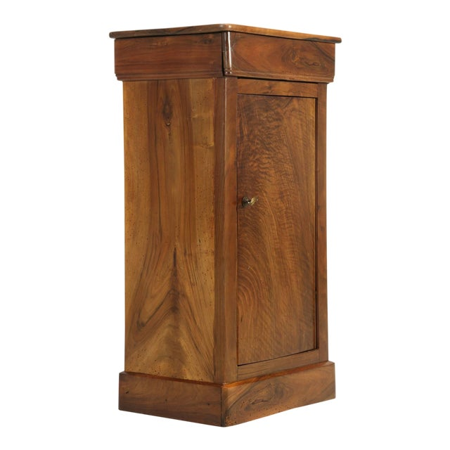 Antique French Louis Philippe Walnut Nightstand For Sale
