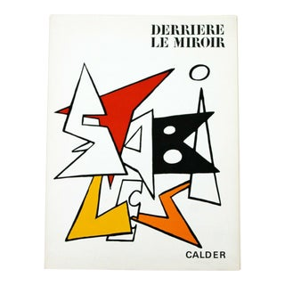 Mid Century Modern Calder Stabiles Paper Art Book Suite of 8 Lithographs 1970s For Sale