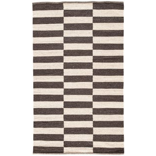 Jaipur Living Demi Handmade Striped Brown/ Cream Area Rug - 2′ × 3′ For Sale