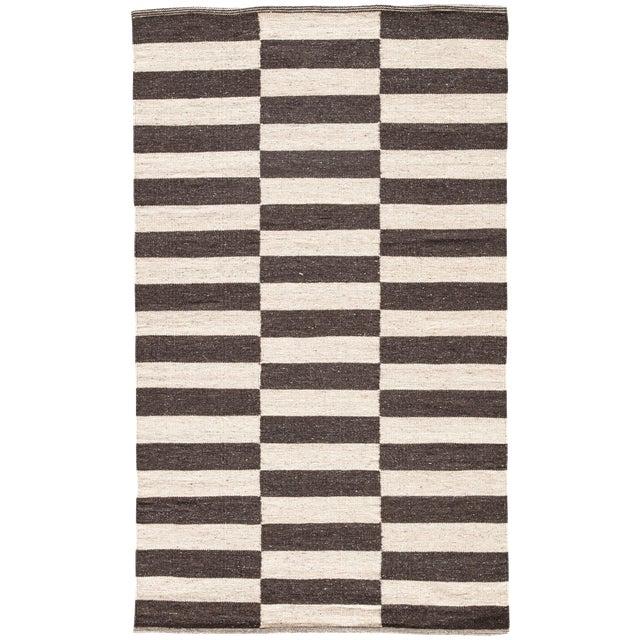 Jaipur Living Demi Handmade Striped Brown/ Cream Area Rug - 2′ × 3′ For Sale