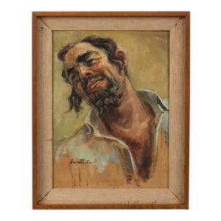 Portrait of a Man by Sara Peita For Sale