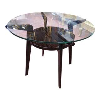 Vintage Mid Century Modern Walnut Side Table For Sale