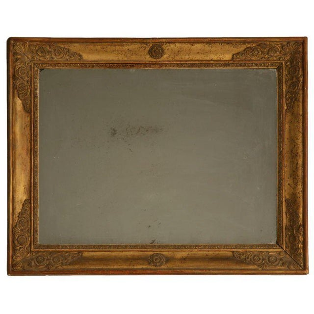Petite All Original 18th C. Antq French Gilt Framed Sugar Mirror For Sale - Image 12 of 12