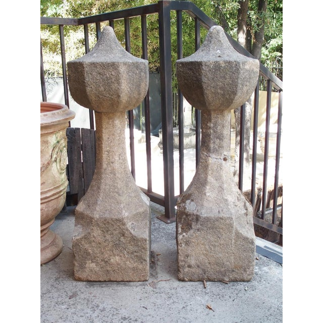 17th Century French Granite Garden Posts For Sale - Image 12 of 13