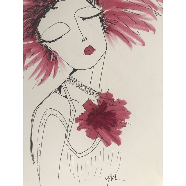 """2010s Original Illustration, """"Divinely Dramatic"""" by Carly Kuhn For Sale - Image 4 of 5"""