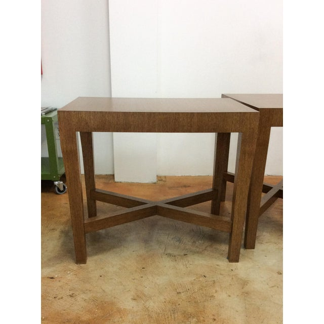 Modern Wood Side Tables - A Pair For Sale - Image 4 of 7