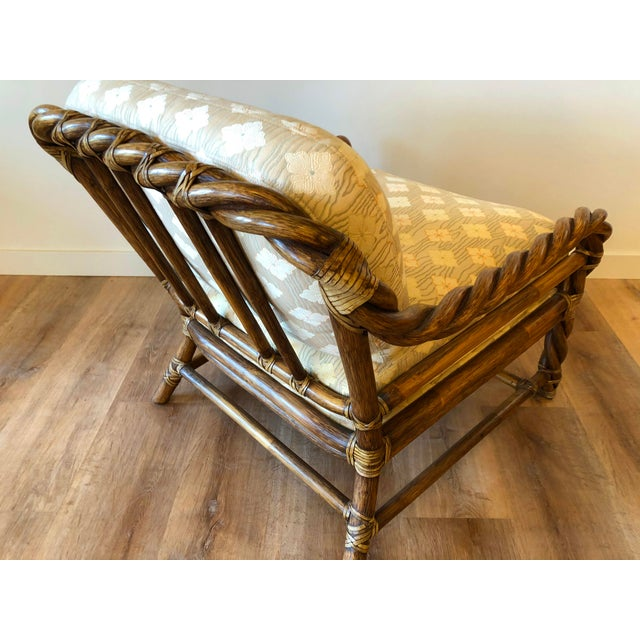 Transitional Vintage McGuire Braided Rattan Chair For Sale - Image 3 of 13