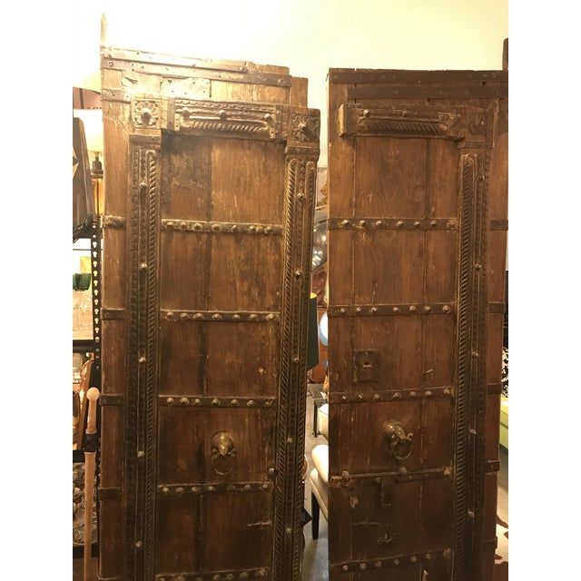 Original Antique Salvaged Hand-Made Indian Doors For Sale In Miami - Image 6 of 12