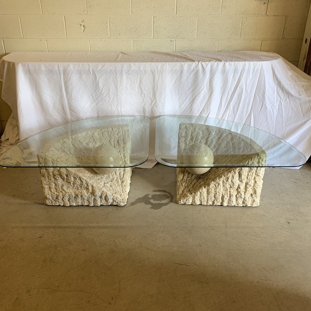 I think these are end tables. If you want just one, I am happy to sell just one. Just let me know. They are in excellent...