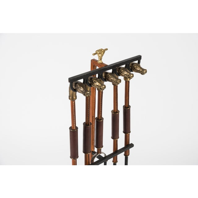 Rare Fireplace Tools by Jacques Adnet For Sale In New York - Image 6 of 10