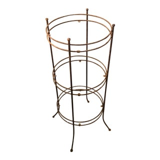 1960s Industrial 3-Tier Metal Etagere For Sale