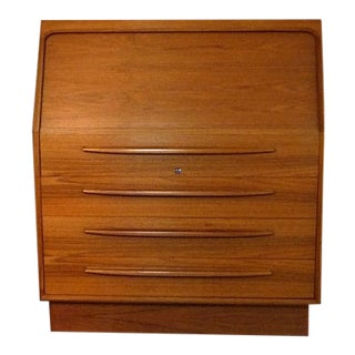 Danish Modern Bernhard Pedersen Teak Secretary Desk For Sale
