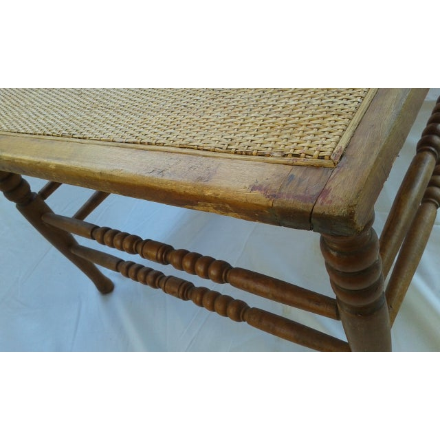 Vintage Caribbean Wood-Frame Woven Chaise Lounge For Sale - Image 12 of 13