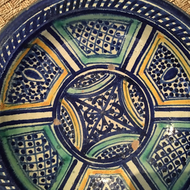 Moroccan Antique Bowl For Sale - Image 4 of 9