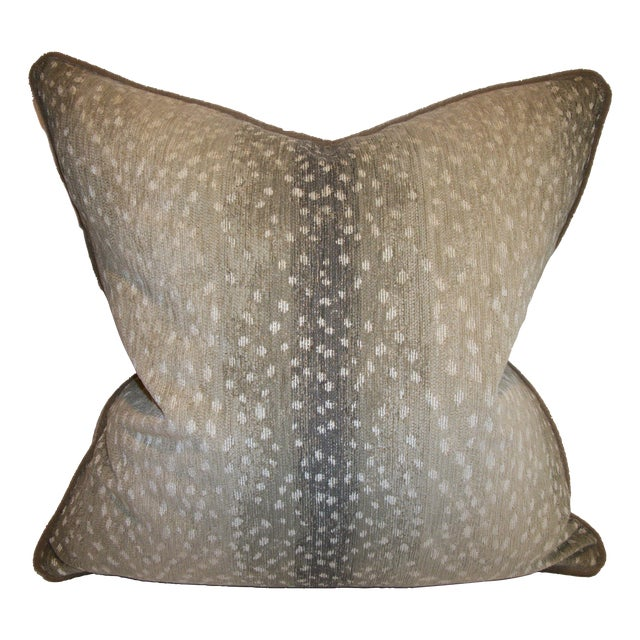 Woven Antelope Pillows with Mohair - A Pair - Image 1 of 5