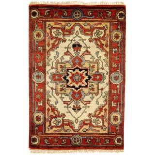 "Traditional Pasargad N Y Fine Serapi Design Hand-Knotted Rug - 2'1"" X 3'1"""