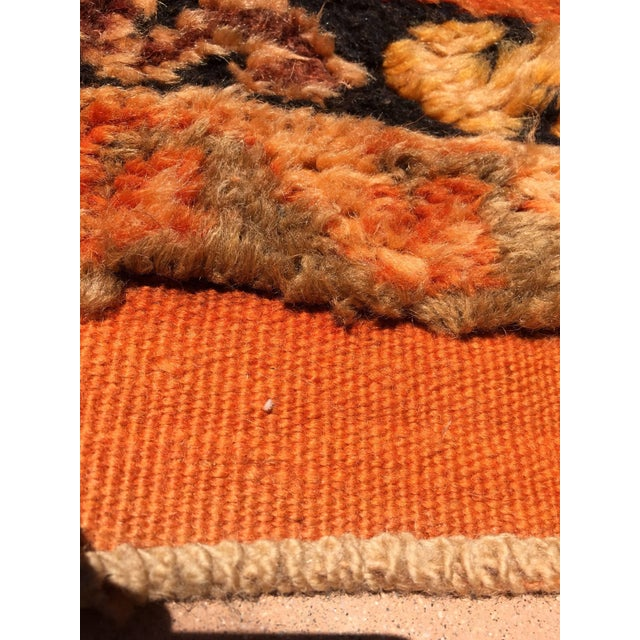 Vintage Mid Century Moroccan Orange Tribal African Pile Rug- 6′7″ × 16′5″ For Sale - Image 4 of 12