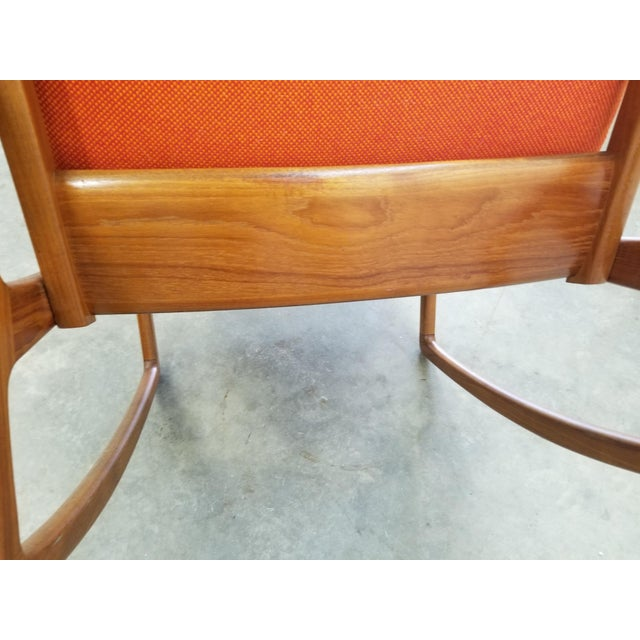 1960s Danish Modern Sculpted Teak Rocking Chair For Sale In Denver - Image 6 of 10