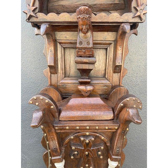 Traditional 19th C. European Folk Art Sculpture /Dispenser For Sale - Image 3 of 13