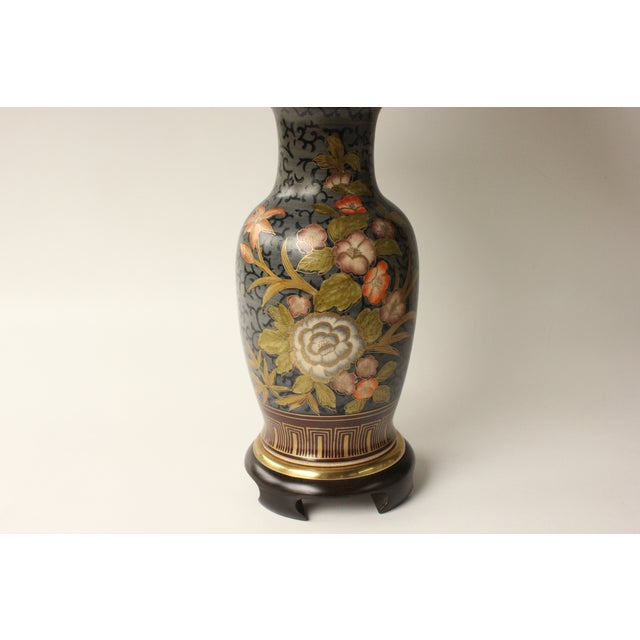 Asian Frederick Cooper Floral Vase Table Lamp For Sale - Image 3 of 7
