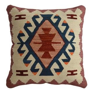 Hand Woven Silk Pillow Cover Oushak Pattern 1. Class Pillow - 15″ X 15″