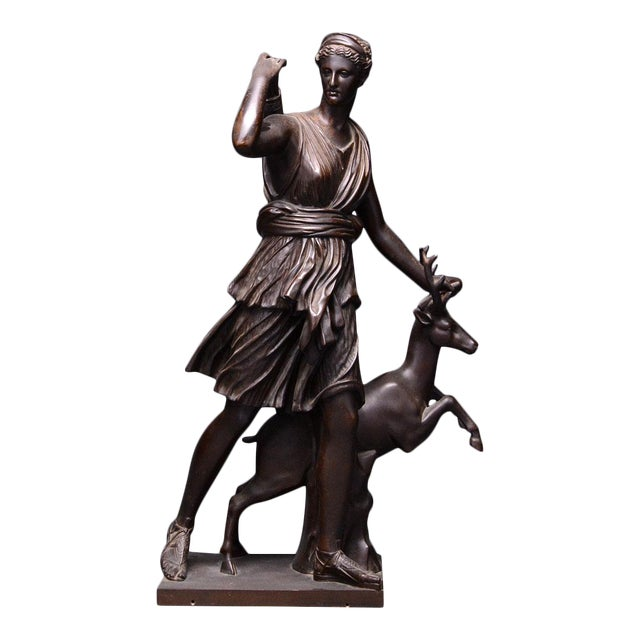 Bronze Sculpture of the Versaille Diana For Sale