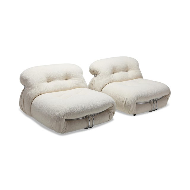 Cassina 'Soriana' Pair of Lounge Chairs by Afra and Tobia Scarpa - 1970s For Sale - Image 11 of 11