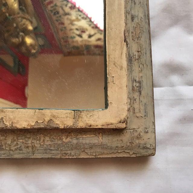 Vintage Indian Archway Painted Teak Mirror - Image 5 of 11