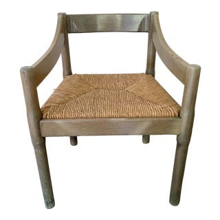 1960s Grey Carimate Chair by Vico Magistretti for Cassina Italy For Sale