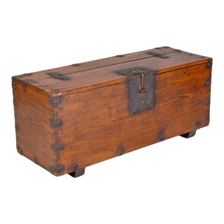 Antique Korean Money Chest or Trunk, 18th Century For Sale