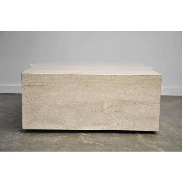Mid-Century Modern Travertine Coffee Table For Sale - Image 3 of 7
