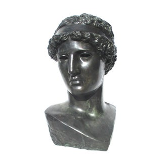 Grand Tour Bust of Muse From Pompeii Chiurazzi Foundry Circa 1900 For Sale