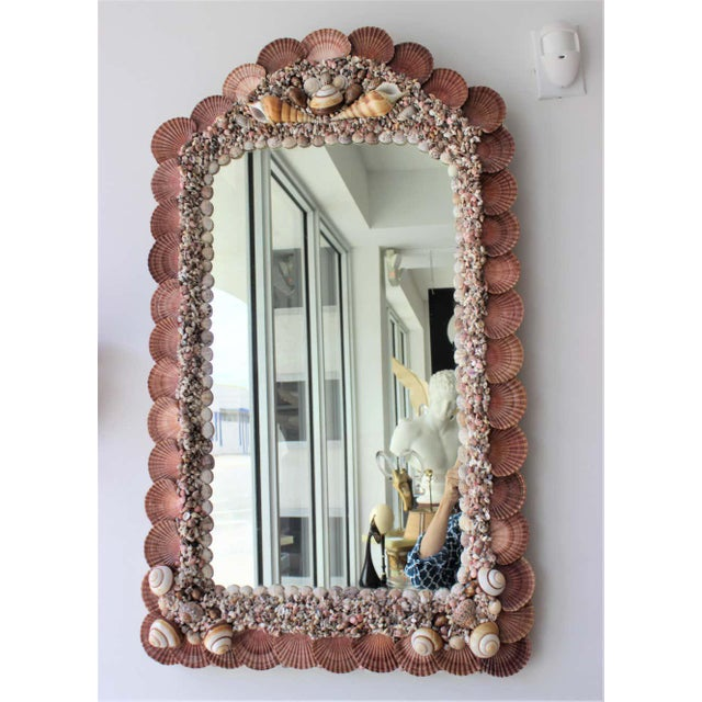 2010s Seashell Encrusted Mirror by Snob Galeries For Sale - Image 5 of 13
