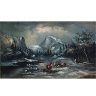 Early 20th Century Yosemite Nocturnal by William Lemos For Sale
