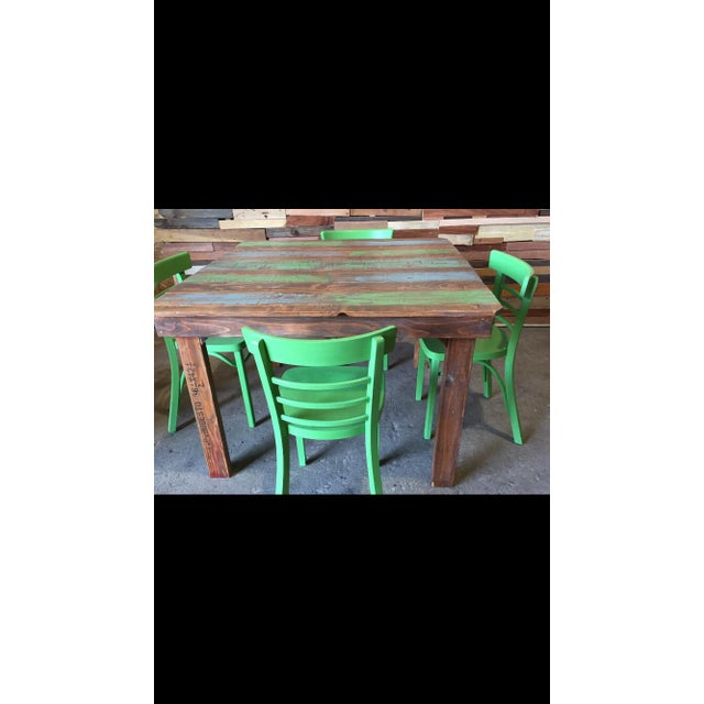 Rustic Dining Table With a Splash of Color - Image 3 of 3