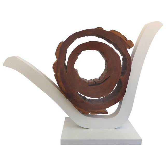 Ipe Reclaimed Wood Mounted Sculpture by Valeria Totti For Sale - Image 11 of 11