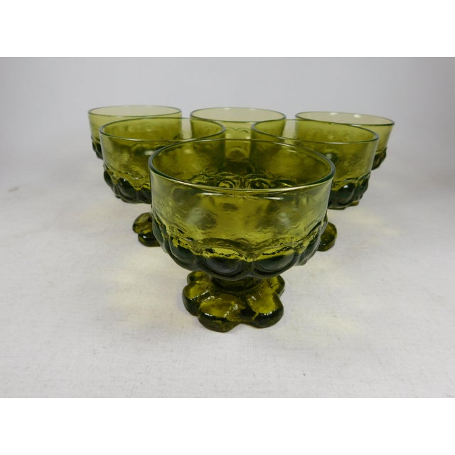 Franciscan Green Madeira Coupes - Set of 6 - Image 2 of 5