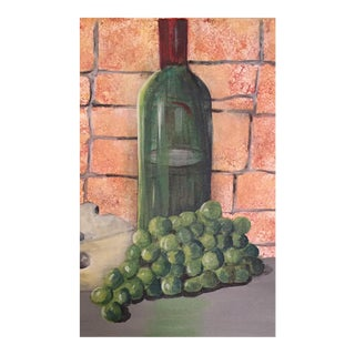 Green Grapes Acrylic Still Life Painting For Sale