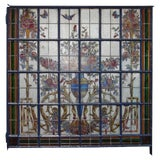 Image of Antique French Stain Glass Window For Sale