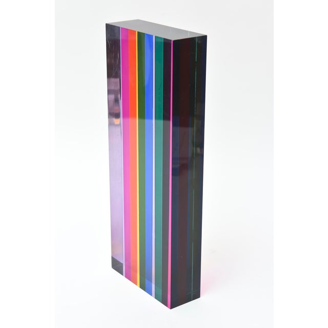 Vasa Mihich Laminatated Lucite Tower Sculpture For Sale - Image 9 of 12