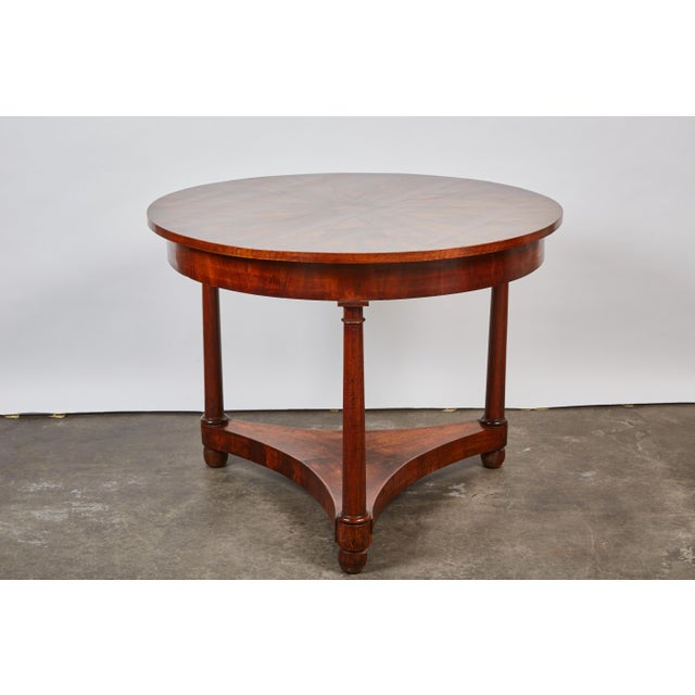 Italian Empire Deep Brown Walnut Center Table - Image 9 of 9