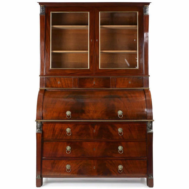 French Empire Mahogany Secretary Desk by Jean-Joseph Chapuis Circa 1805 For Sale