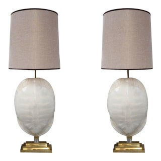 A Pair of Turtle Table Lamps