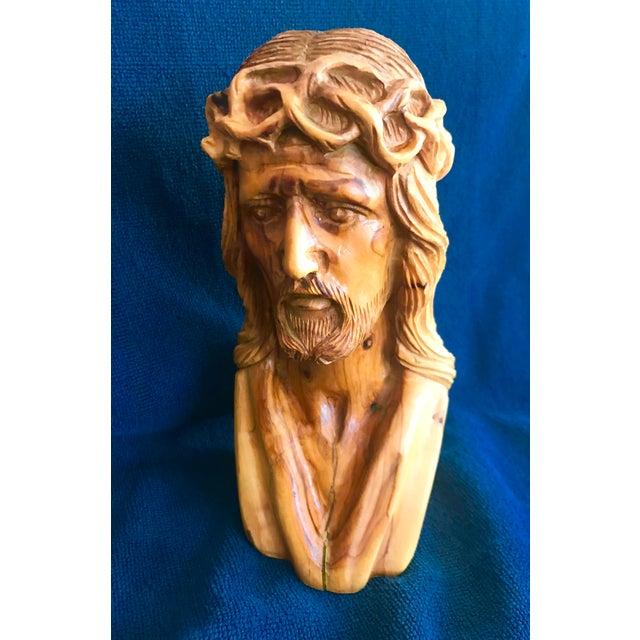 Hand Carved Olive Wood Sculpture - Image 5 of 9