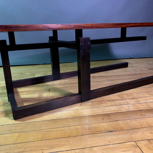 Thomas Swift Studio Teak and Lacquered Coffee Table, Usa 1980s For Sale In New York - Image 6 of 10