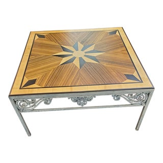 Vintage Modern Inlaid Coffee Table For Sale
