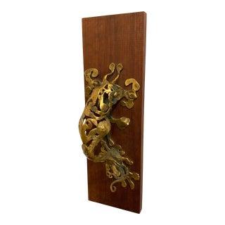 Mid-Century Modern Bronze Door Knocker by Don Drumm For Sale
