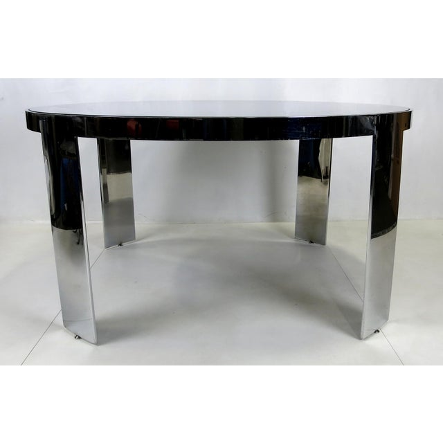 Modern Polished Nickel Center Table by Pace For Sale - Image 3 of 5