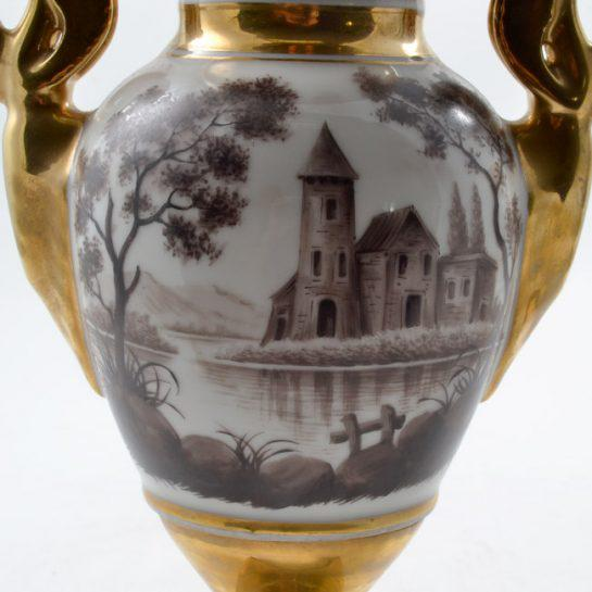 19th Century Antique French Porcelain Vases-a Pair For Sale - Image 11 of 13